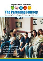 The Parenting Journey - Lincolnshire Family Services Directory ...