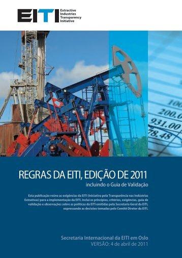 REGRAS DA EITI, EDIÇÃO DE 2011