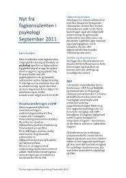 Nyt fra fagkonsulenten i psykologi September 2011_x - Emu