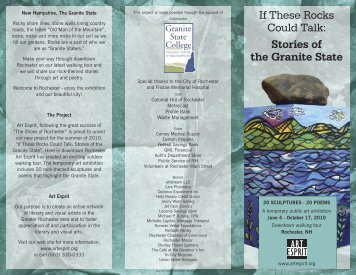 If These Rocks Could Talk: Stories of the Granite State - Art Esprit