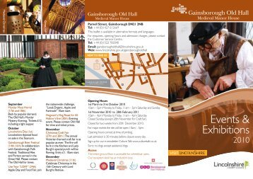 Gainsborough Old Hall Events - Lincolnshire Family Services Directory