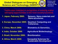 Global Dialogues on Emerging Science and Technology (GDEST)