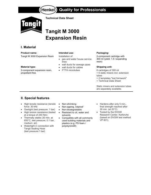 Tangit M 3000 Expansion Resin Henkel
