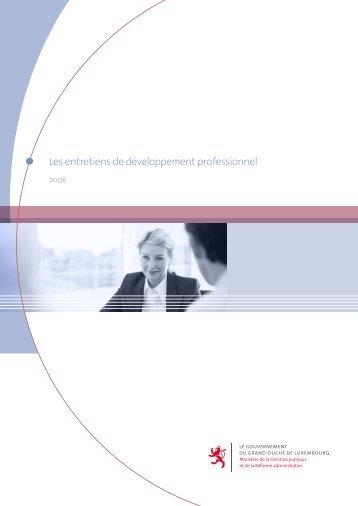 Les entretiens de développement professionnel - Portail de la ...