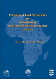 Principles of Good Partnerships for Strengthening Public Health ...