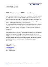 Pressemitteilung - Liwest