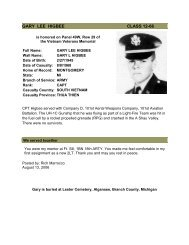 CPT Gary Lee Higbee - Field Artillery OCS Alumni Chapter