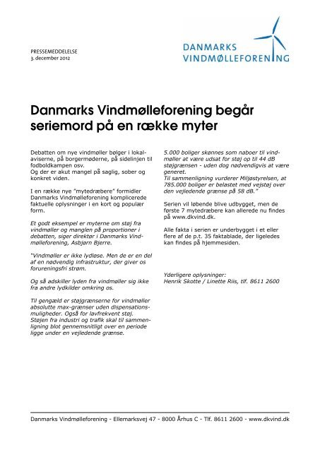 Danmarks Vindmølleforening begår seriemord på en række myter