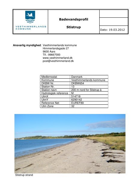 Badevandsprofil Stistrup - Vesthimmerlands Kommune