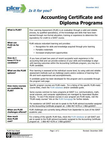 Post-Baccalaureate Accounting Certificate Program Application