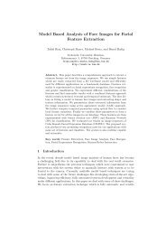 Model Based Analysis of Face Images for Facial Feature Extraction