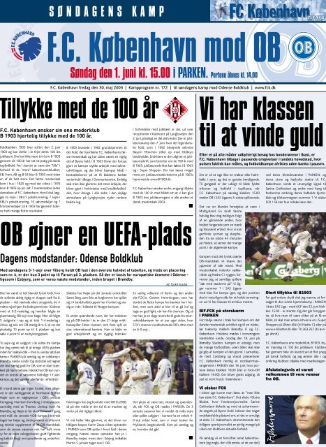 Kampprogram FCK-OB (Kræver Adobe Acrobat ... - FC København