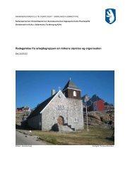 Redegørelse fra arbejdsgruppen om kirkens styrelse og ... - Inatsisartut