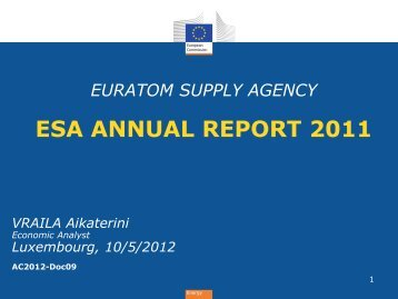 ESA ANNUAL REPORT 2011 - Europa