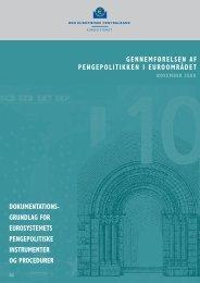 gennemførelsen af pengepolitikken i euroområdet, november 2008