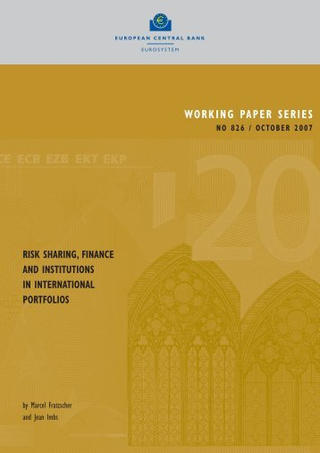 Risk sharing, finance and institutions in international portfolios