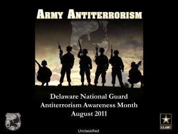 Delaware National Guard Antiterrorism Awareness Month August ...