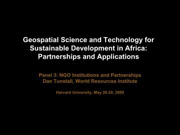 Geospatial Science and Technology for Sustainable Development in ...