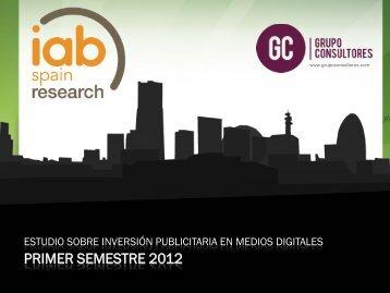 Estudio sobre inversión publicitaria en medios digitales - IAB Spain