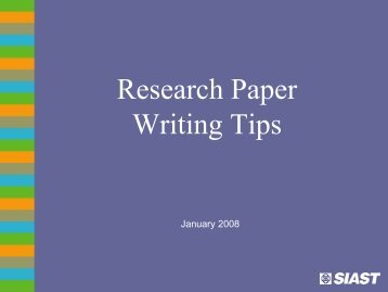 tips when writing a research paper