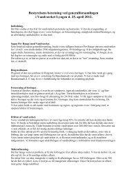 Bestyrelsens beretning d. 25. april 2012 - Vandværket Lyngen