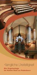 Inhalt Orgel Im Hohen Dom nn - Erzbistum Paderborn