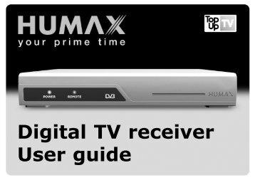 Humax DTT UK TUTVR User Guide 080405.qxp - Find help