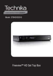 Freeview™ HD Set Top Box - Find help