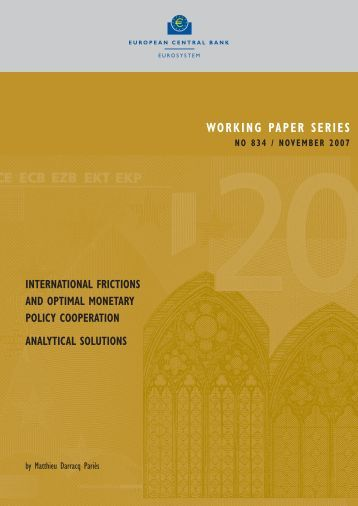 International frictions and optimal monetary policy cooperation ...