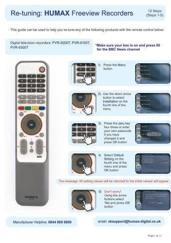 Humax Foxsat pvr User manual