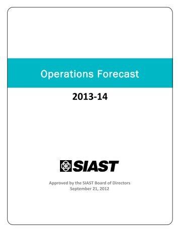 2014 Operations Forecast - Saskatchewan Institute of Applied ...