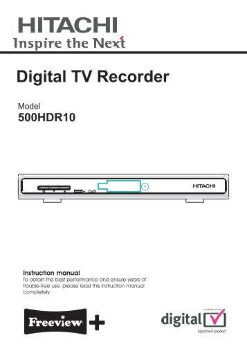 Digital TV Recorder - Find help