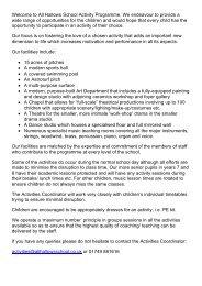Activity Information Book - All Hallows School - Extranet