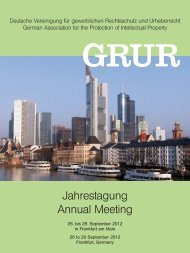 GRUR Jahrestagung 2012 - DeutscheAnwaltAkademie
