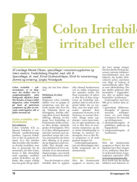 colon irritabile kost