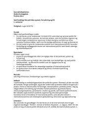 Det politiske system, forvaltning og EU 1. semester Varighed
