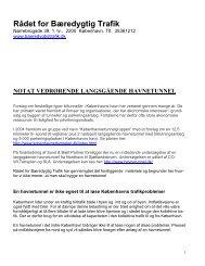 Se notatet her (pdf-fil). - Rådet for Bæredygtig Trafik