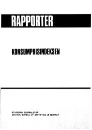 Konsumprisindeksen. 1983. 57s. ISBN 82-537-1998-1 - Statistisk ...