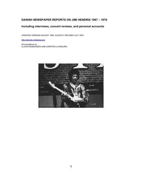 Jimi Hendrix POSTER COPENHAGEN DENMARK 1970 Music Guitar Room Decor 01