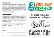 Die große Aktion der Jugendarbeit in Bayern