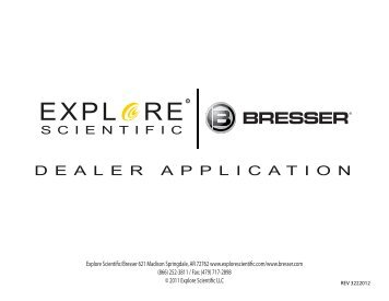 Dealer Application for the Americas - Explore Scientific