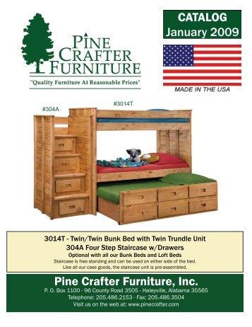 Pine Crafter Furniture, Inc. CATALOG January