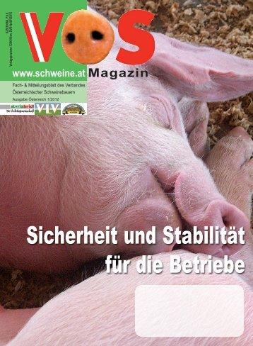 VÖS-Magazin Ausgabe 1/2012 - Schweine.at