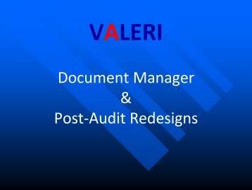 Document Manager & Post-Audit Redesigns