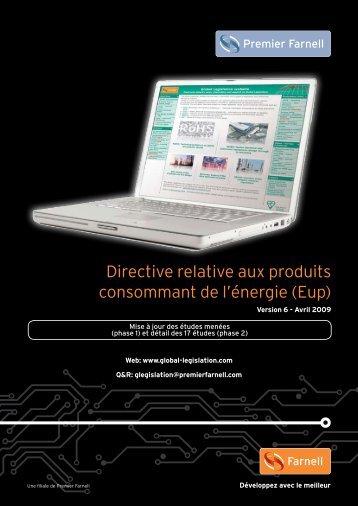 Directive relative aux produits consommant de l'énergie (Eup) - Farnell