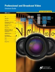Professional and Broadcast Video Products (PDF) - Farnell