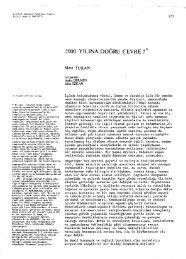 Mete TURAN 2000 Yılına Dogru Çevre? - Journal of the Faculty of ...