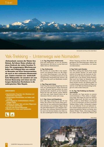 Yak-Trekking – Unterwegs wie Nomaden - Globotrek