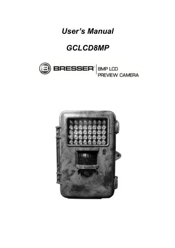 8 MP Game Camera with Preview User Manual - Explore Scientific
