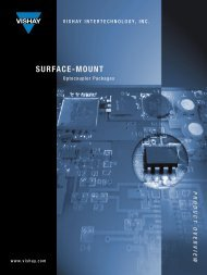 Surface-Mount Optocoupler Packages Product Overview - Farnell